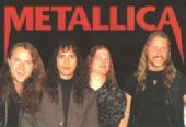 Metallica - 'Group Long Hair' Postcard